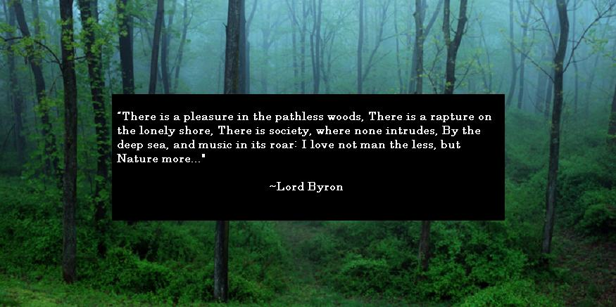 Lord Byron Quote About Nature
