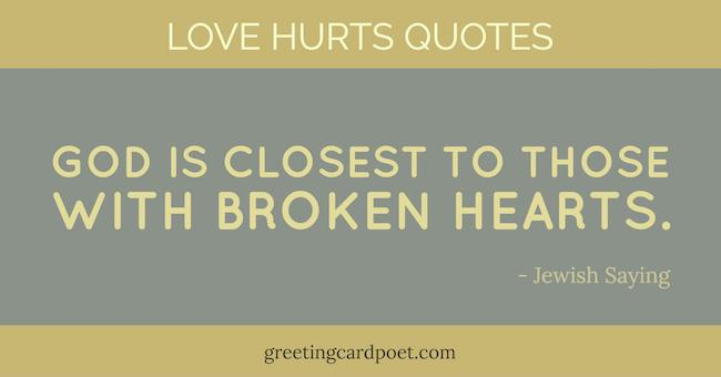 Love Hurts Quotes Image