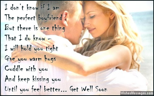 Romantic Get Well Soon Greeting To Girlfriend From Boyfriend