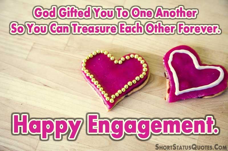 Short En Ement Status To Congratulate Couple