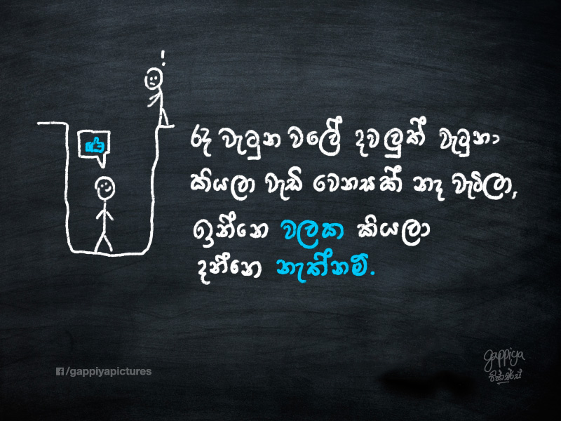 Sinhala Life Quote Pitt Hole