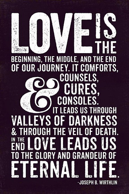 Love Is The Beginning The Middle And The End Of Our Journey