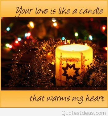 Winter Candle Love Quote For Christmas And New Year