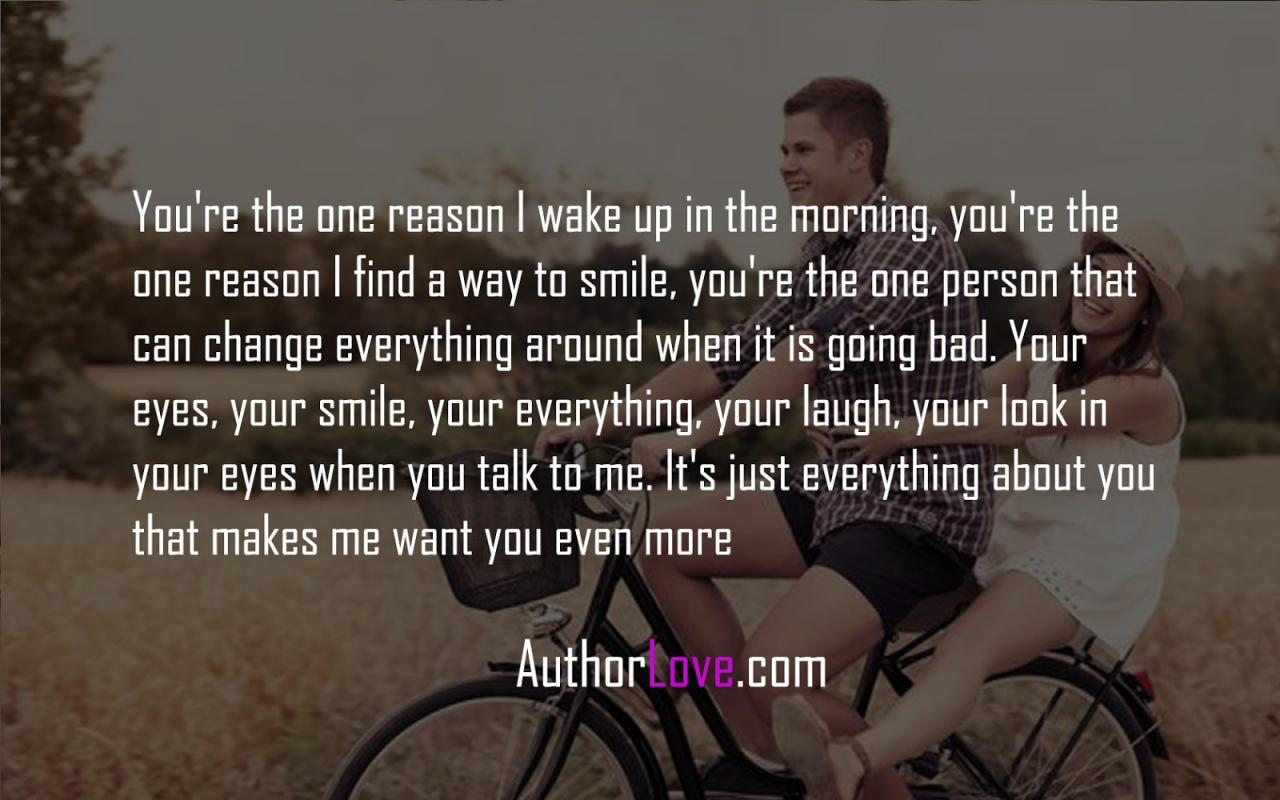 Youre The One Reason I Wake Up In The Morning Youre Tags Love Quotes