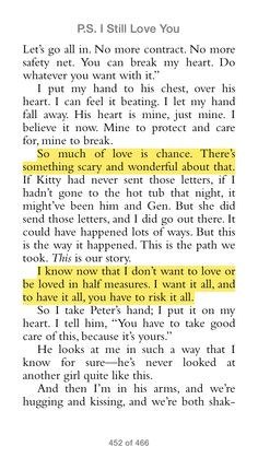 Jenny Han P S I Still Love You So Much Of Love Is Chance  C B Movie Quotesbook