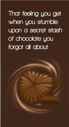 Food  C B Secret Stash Of Chocolate Quotes