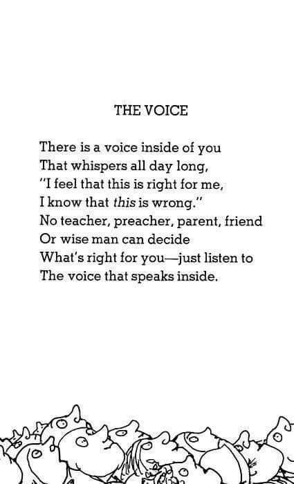 Just Listen To The Voice That Speaks Inside  E  A