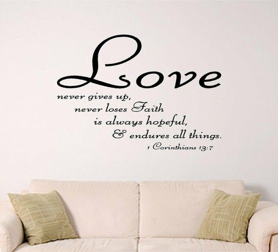 Astounding Best Quotes About Love Bible Nice Ideas Faith All Things Sticker Decorating Living Room Sofa