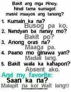 Question And Answer Tagalog Version