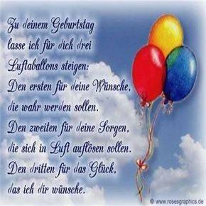 Zu Deinem Geburtstag Lasse Ich Fur Dich Drei Luftballons Steigen
