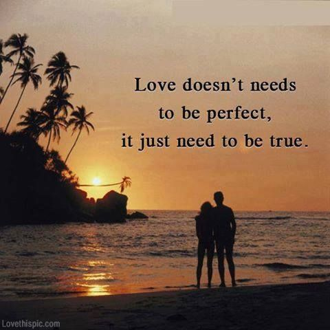 Love Doesnt Need To Be Perfect Love Quotes Quotes Quote Sunset Tropical Couple Love Quote Picture