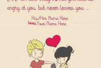 Write Couple Name On Sweet Couple Quotes For Her Image For Dps Cute Boy