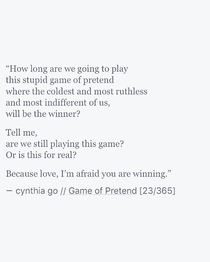 Game Of Pretend   Cynthia Go Writing Poetry