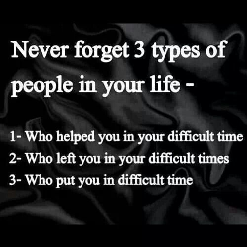 Never Forget  Types Of People In Your Life Who Helped You In Your Difficult Time Who Left You In Your Difficult Times Who Put You In Difficult Time