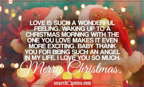 Love Is Such A Wonderful Feeling Waking Up To A Christmas Morning With The One