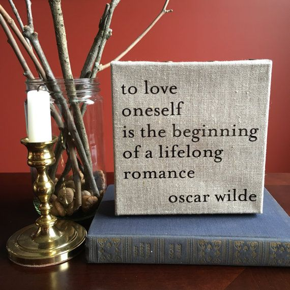 Oscar Wilde Self Love Quote Canvas X By Literarylovers On Etsy