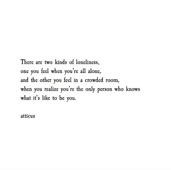 From The Book Love Her Wild Poetry By Atticus The Solitariness Of