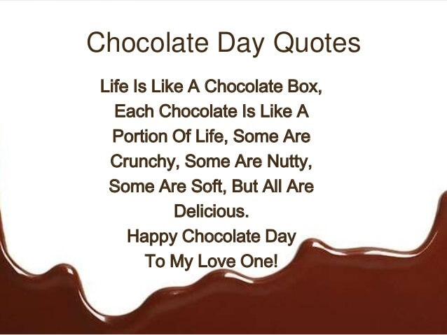 Chocolate Day Love Quotes Chocolate Day Quotes