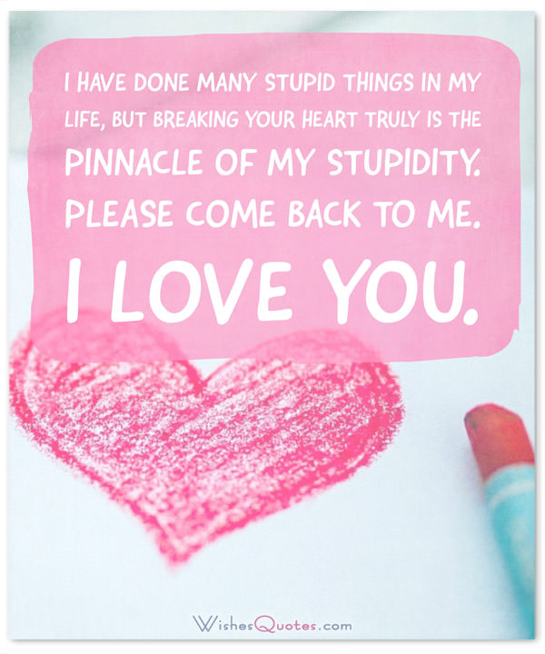 Sorry Message I Have Done Many Stupid Things In My Life But Breaking Your Heart