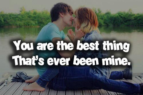Couple Cute Hug And Kiss Love Quotes Wallpapers