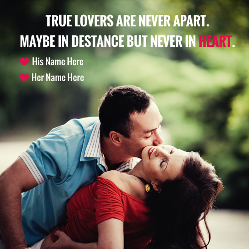 Couple Kiss With Heart Touching Quotes Maker