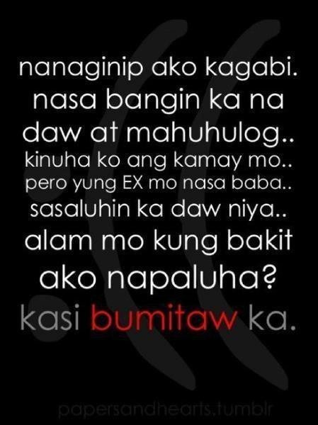 Tagalog Emo Quotes Sad Love Quotes Quotes