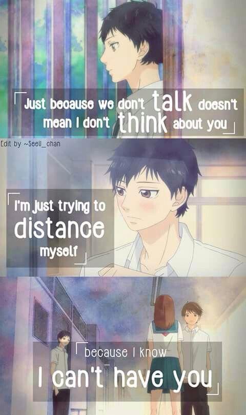 Kou Ao Haru Ride Sad Anime Quotes