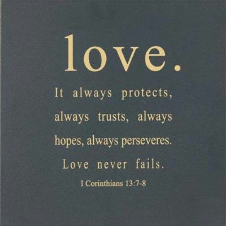 It Always Protects Always Trusts Always Hopes Alwaysveres Love Never Fails  Corinthians One Of My All Time Favorite Verses