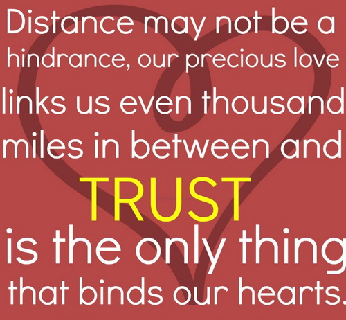 Long Distance Love Story In Quote