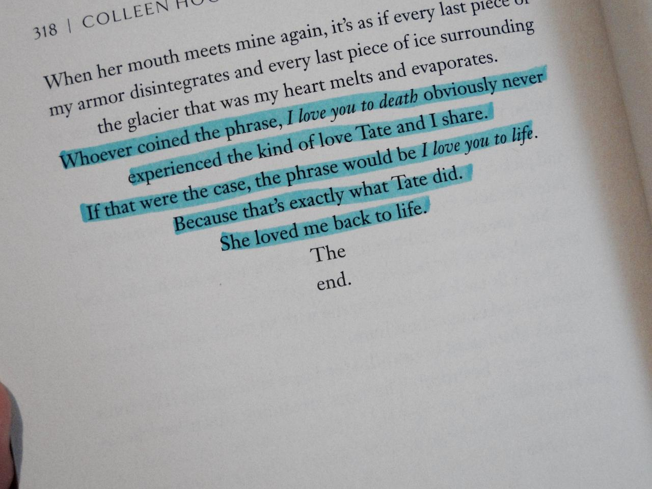 Love Quotes For Book Review Love By Colleen Hoover Bellathereader