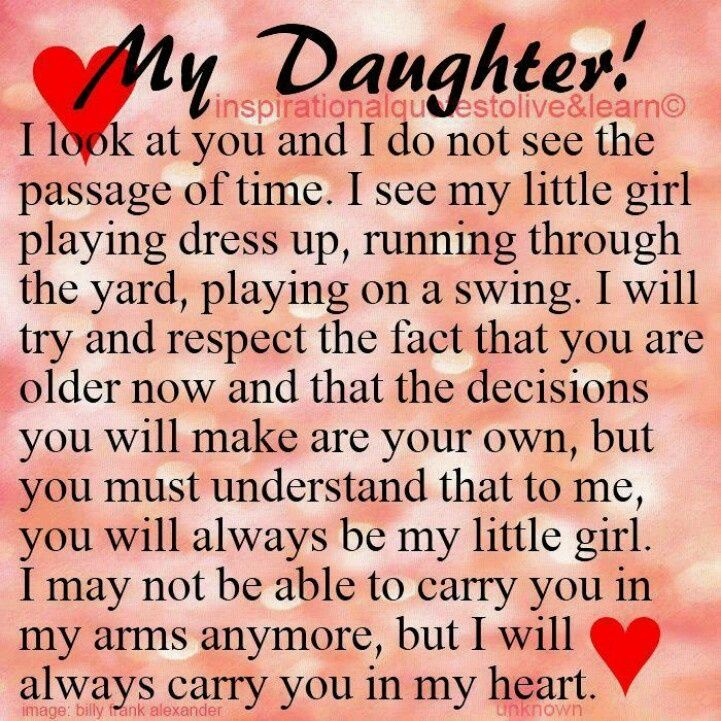 Inspirational Sayings For Daughters Happy Birthday To My Daughter Quotes