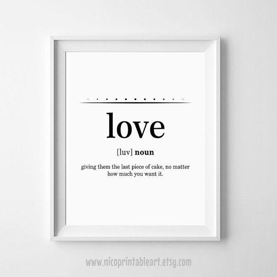 Love Definition Funny Definition Print Love Wall Print Love Funny Definition Love Quote Print Modern Minimal Print Digital Love Print