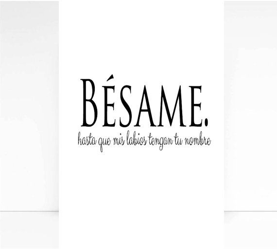 Besame Spanish Quote Love Print Wall Decorspanish By Mixarthouse