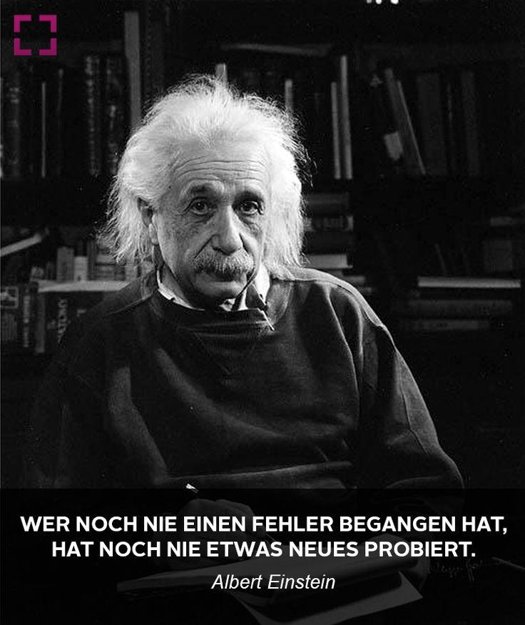 Albert Einstein Uber Fehler Im Leben Zitate Bekannter Personlichkeiten Und Promis Pinterest