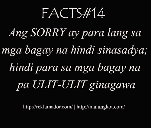 Sorry Quotes Tagalog