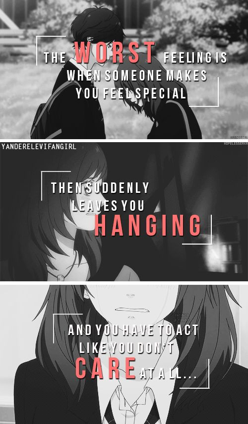 Thats Why I Love Them To Much Sad Anime Quotes