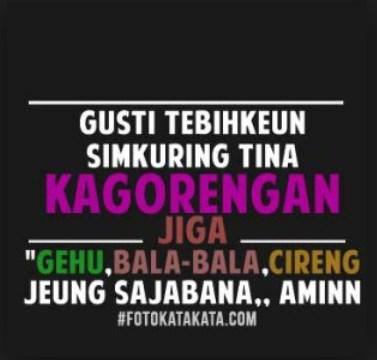 Gambar Dp Bbm Kata Kata Lucu Bahasa Sunda_