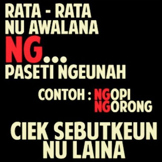 Kata Kata Lucu Bahasa Sunda Dalam Bentuk