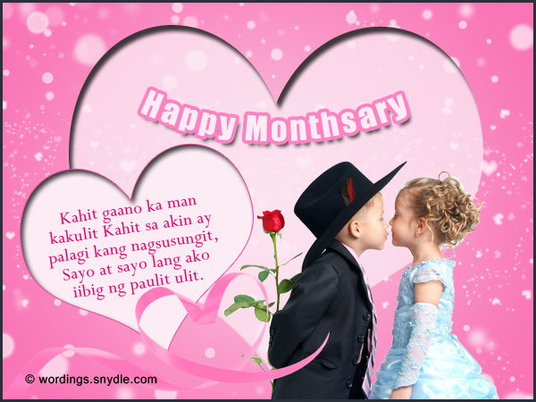 Happy Monthsary Messages Tagalog