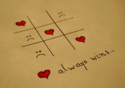 Heart Shaped Love Quotes Of The Day Sad Emoticon Tic Tac Game Simple Drawing Always Win