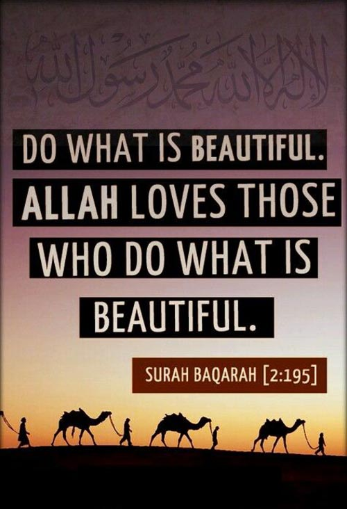 Allah Loves Those Who Do What Is Beautiful Surah Baqarah
