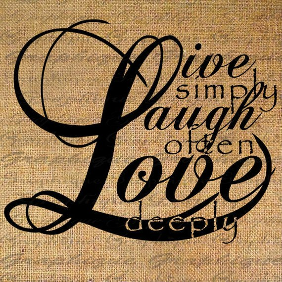 Live Laugh Love Quote Text Digital Collage Sheet Download
