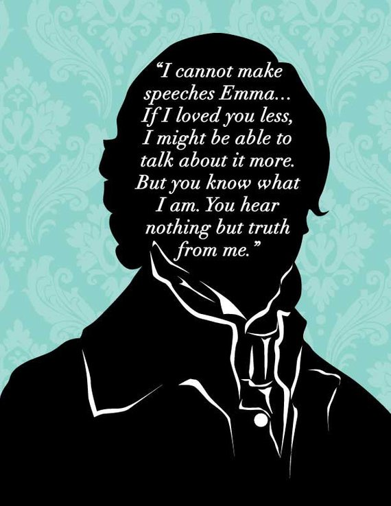 Items Similar To Emma Jane Austen Print Mr Knightly Proposal Jane Austen Quote Jane Austen Emma Quote On Etsy