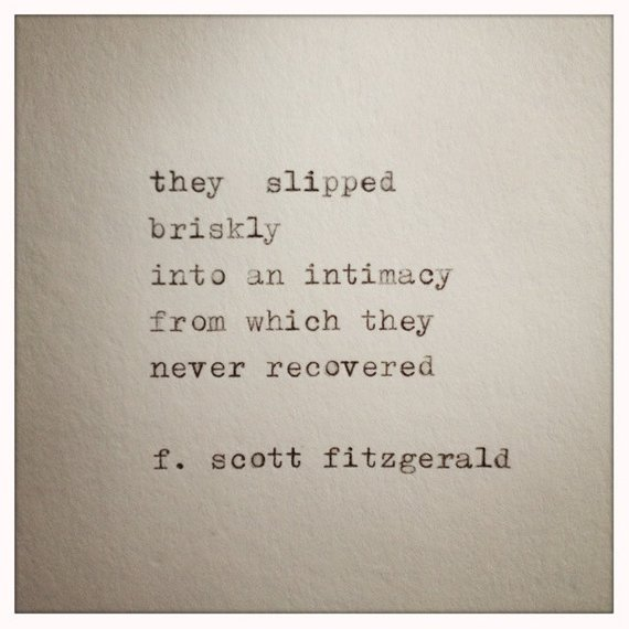 F Scott Fitzgerald Love Quote Made On Typewriter Typewriter Quote