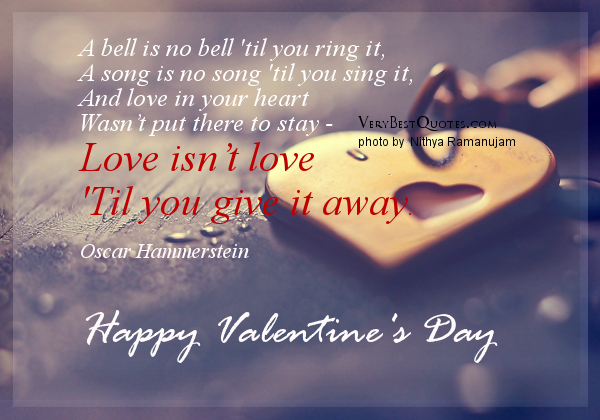 Inspirational Love Quotes For Valentines Day Valentines Day Love Quotes And