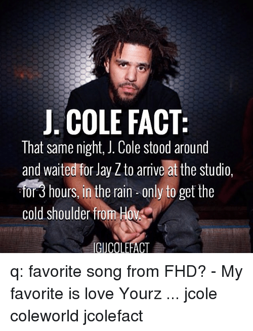 J Cole Jay And Jay Z J Cole Fact That