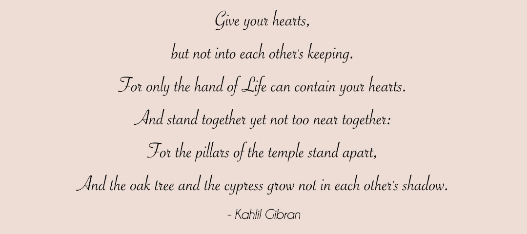 Kahlil Gi N Quotes Sunday Quote Kahlil Gi N On Marriage Mubridal