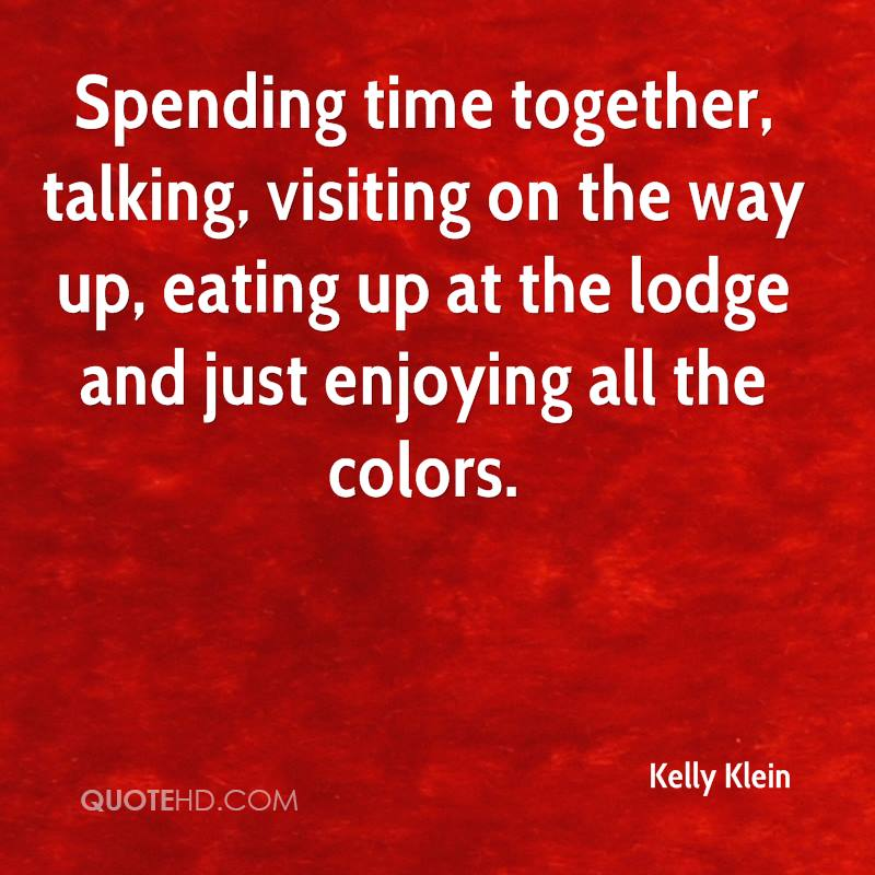 Spending Time Together Talking Visiting On The Way Up Eating Up At The