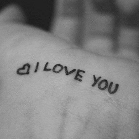 Handwritten I Love You And Love Image