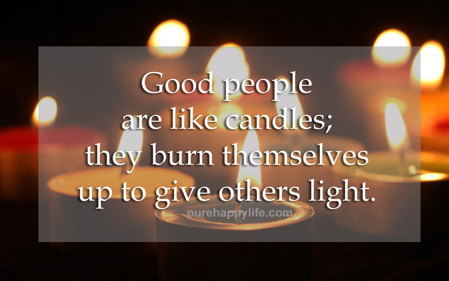 Life Quote Candle Light